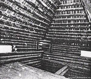Рис.8. Внутренний вид шатра башни Якутского острога рубленного вреж.